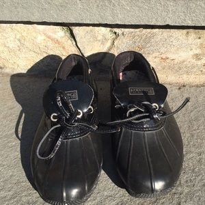 Sperry Black Duck Boot Shoes Women's Size 6